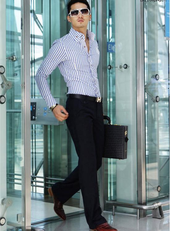Áo sơ mi nam kẻ sọc xu hướng thời trang hè 2017