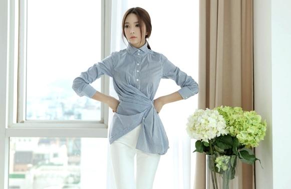 Áo sơ mi nữ cách điệu Hàn Quốc giành cho nàng công sở