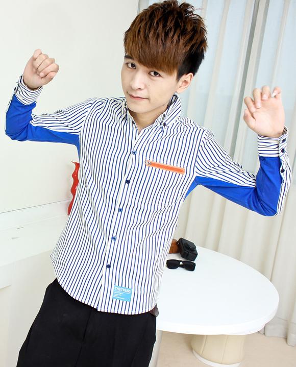 Mẫu áo sơ mi nam cá tính đẹp như nam thần Hàn Quốc