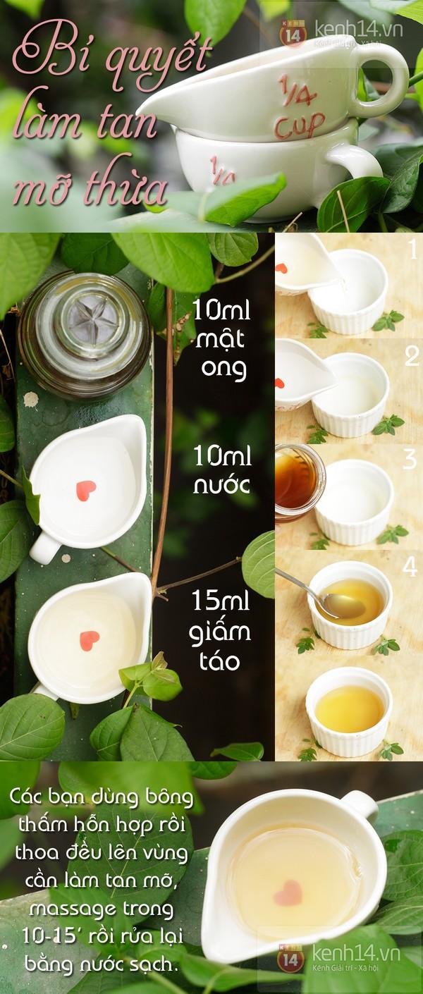 Phương pháp giảm mỡ thừa vùng bụng tại nhà với giấm táo