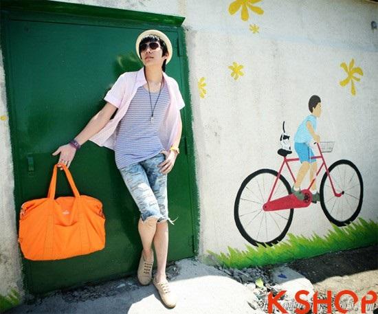 Teen boy năng động nóng với sơ mi nam kiểu Hàn