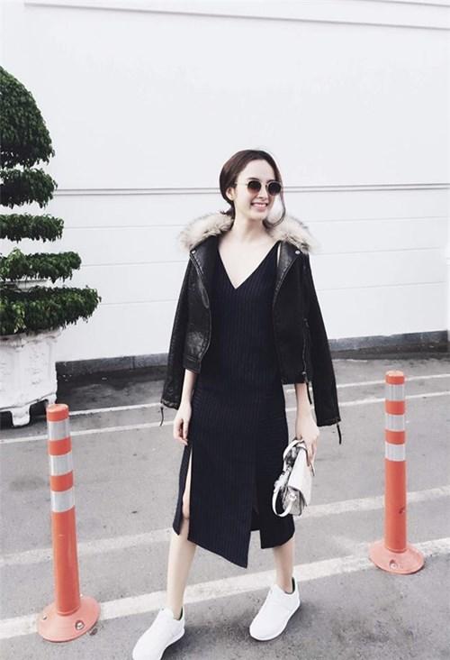 Angela Phương Trinh 'thời trang phang thời tiết' khi diện đồ lông, da