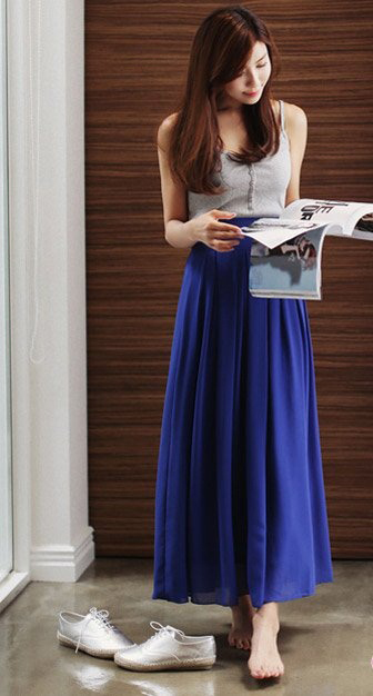 Chân váy midi dài đẹp cho nàng duyên dáng hè 2016