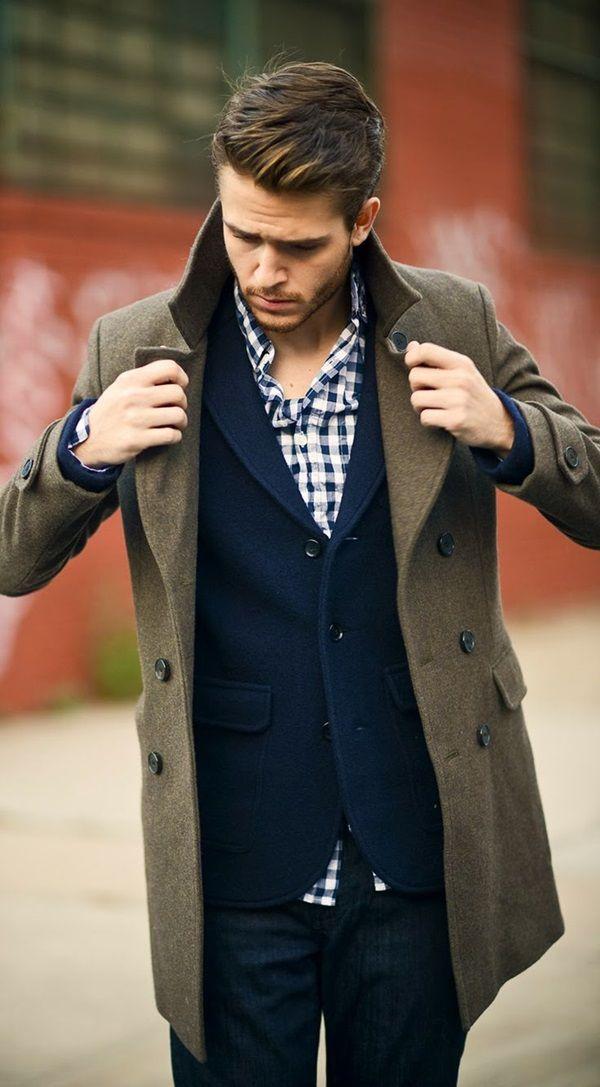 Áo khoác dạ măng tô dáng dài cho chàng công sở
