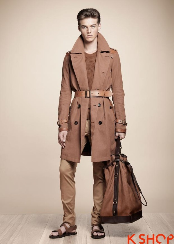 Áo khoác dạ măng tô nam dạo phố ấm áp không lạnh