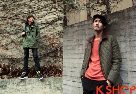 Áo khoác nam kiểu Hàn Quốc đẹp đông