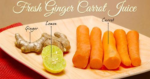 Tự chế nước cà rốt và gừng giúp làn da sáng mịn