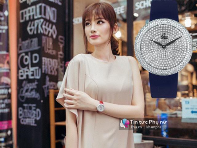 Đồng hồ kim cương tiền tỷ gây choáng váng của Thủy Tiên, Hà Hồ, Huyền My