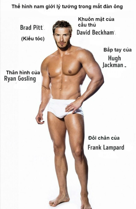 Tiêu chuẩn hình thể đàn ông khỏe mạnh lý tưởng trong mắt phái đẹp