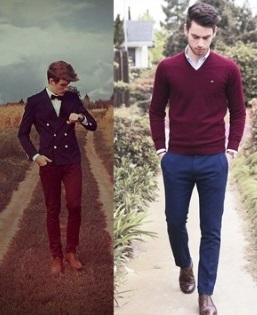 BST thời trang nam sắc đỏ Burgundy sang trọng