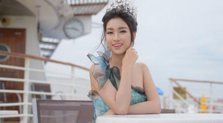 Hoa hậu Đỗ Mỹ Linh diện đầm công chúa dự sự kiện ở Đài Loan