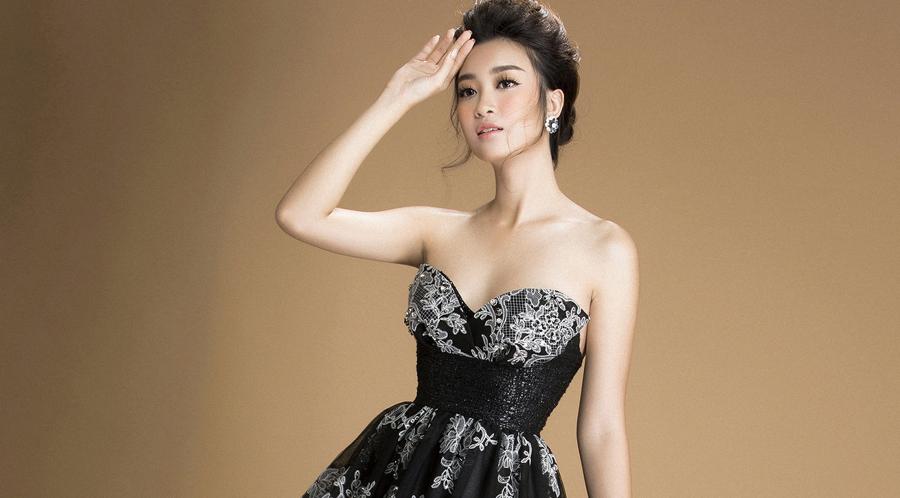 Đỗ Mỹ Linh quyến rũ với trang phục sắc đen