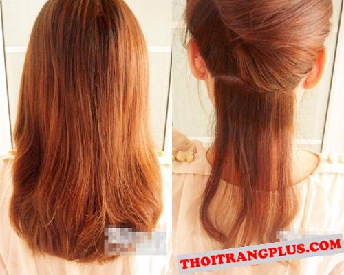 Cách tạo kiểu tóc búi bện đẹp cho nàng xinh xắn thu 2017