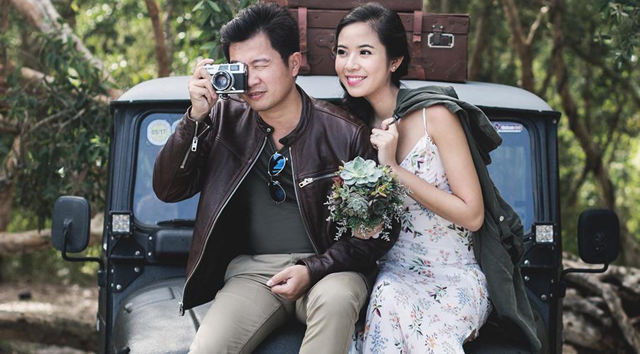 Ảnh cưới ngọt ngào của Kiều Khanh và ông xã hơn 12 tuổi