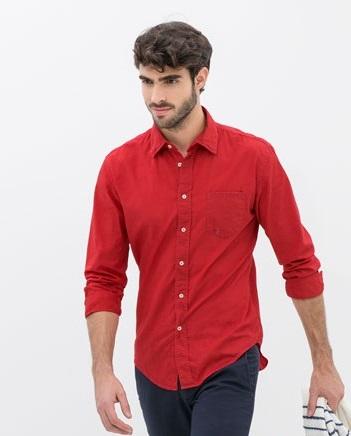 Áo sơ mi nam sắc đỏ cho ngày hè cháy rực