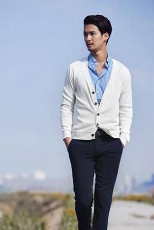 Áo khoác vest mỏng cardigan nam ấm áp cho chàng dạo phố