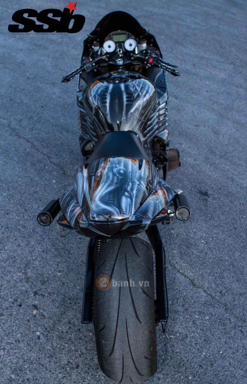 Loạt ảnh Kawasaki ZX-14 đời 2006 độ 500hp cứng cáp