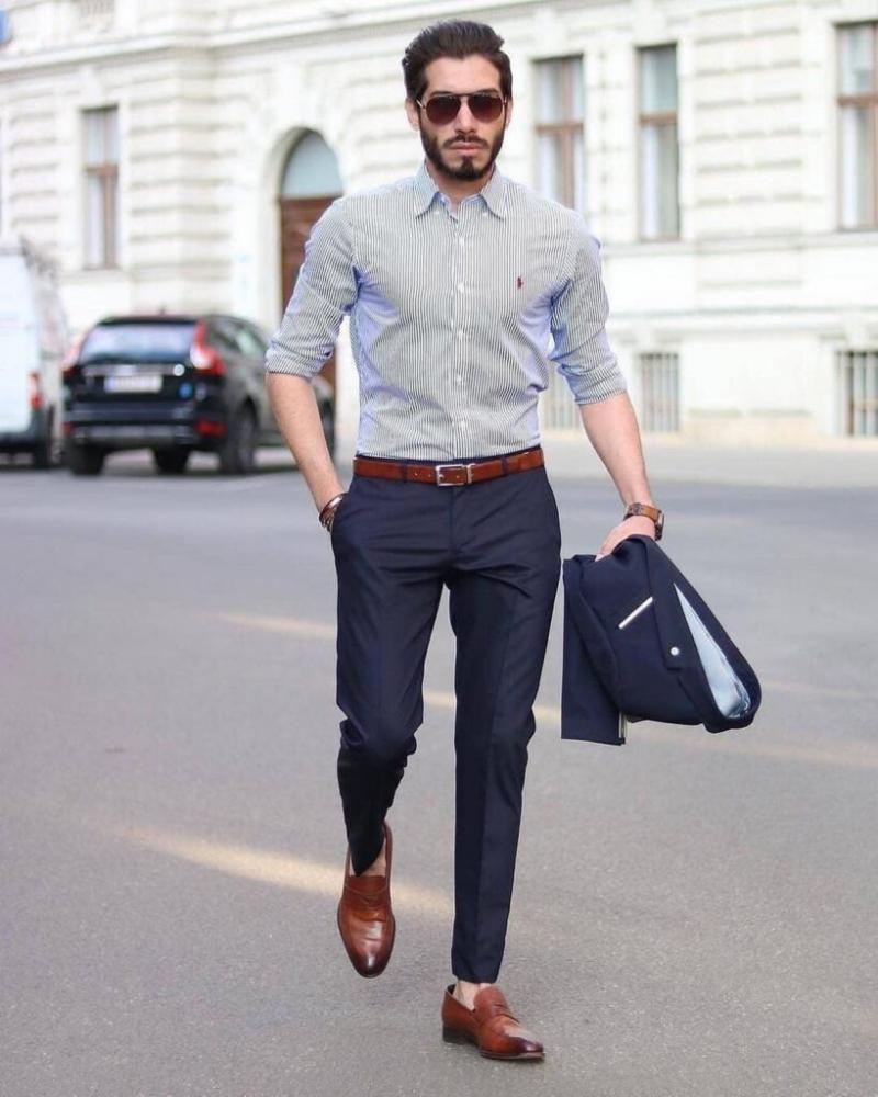Chàng bảnh bao soái ca với gợi ý phối áo sơ mi cùng quần trouser