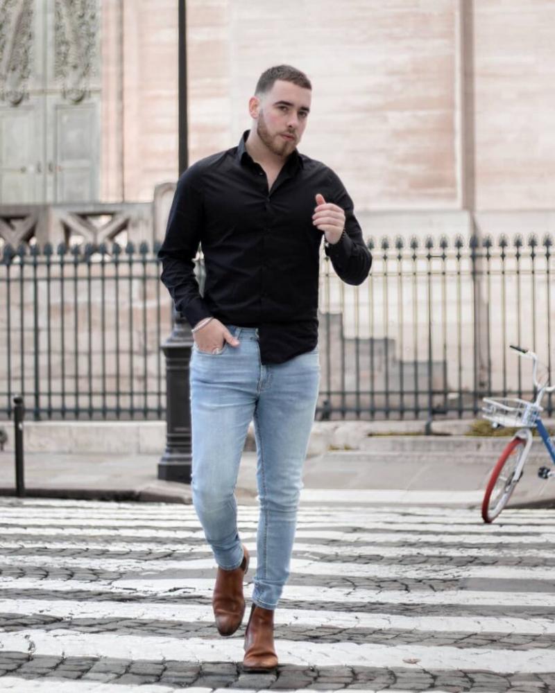 5 cách phối áo sơ mi đen đến công sở cho anh chàng phong cách