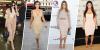 Tổng hợp 20 chiếc váy nude tuyệt đỉnh giúp chị em Kardashian luôn nóng bỏng