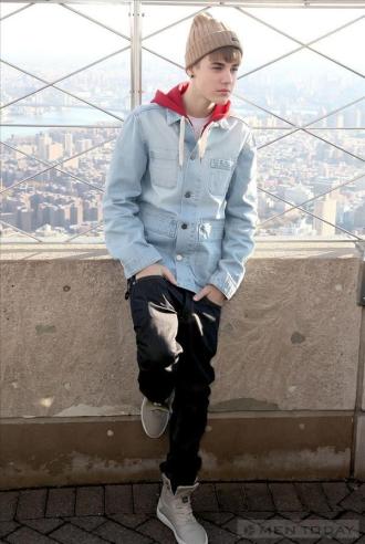 Hãy mặc jacket denim như Justin Bieber