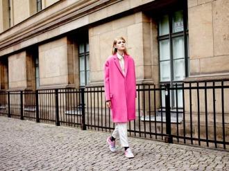 Áo khoác nữ hồng đẹp, trang nhã cho nàng công sở