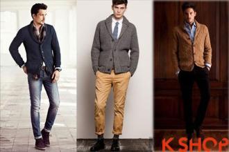 Áo khoác cardigan nam cổ bẻ đẹp ấm áp thanh lịch