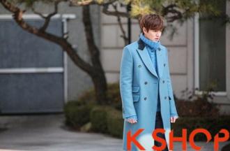 Áo khoác nam dạ dáng dài Hàn Quốc đông ấm áp