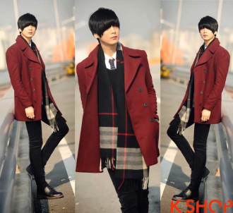 Áo khoác nam dạ đẹp Hàn Quốc đông