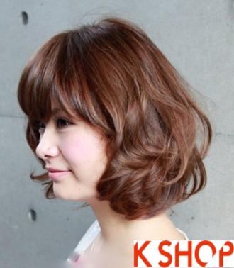 Danh sách 6 kiểu tóc ngắn uốn xoăn ngang vai xinh đẹp cho bạn gái