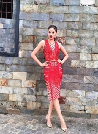Phạm Hương, Kỳ Duyên cuốn hút sang trọng với váy đỏ