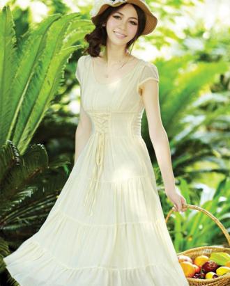 Váy đầm maxi dáng dài lãng mạn ngọt ngào xuống phố hè 2016