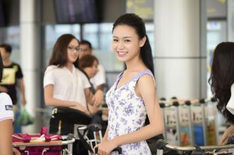 Hình ảnh đời thường của thí sinh Hoa hậu