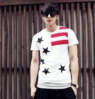 Áo thun nam Hàn Quốc trẻ trung với họa tiết bắt mắt