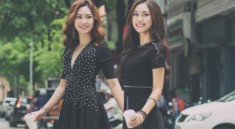 Chị em Á khôi Áo dài 2016 diện đồ đôi xuống phố Sài thành