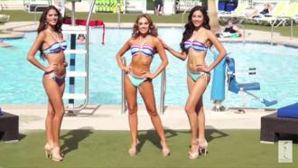 Nguyễn Thị Loan trình diễn bikini bên dàn người đẹp quốc tế