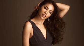 Phạm Hương diện váy khoét cổ sâu, cut-out táo bạo