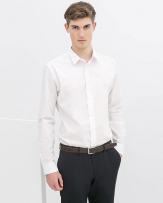 Đúng chuẩn 'soái ca' với áo sơ mi nam trắng công sở
