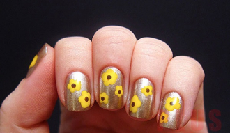 Kiểu móng tay hình hoa đẹp 2017 đầy phong cách cá tính cho bạn gái