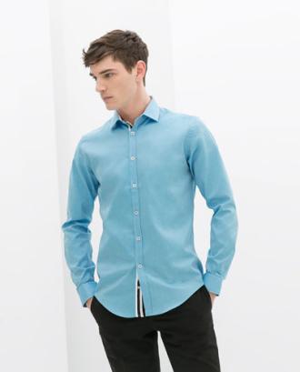 Mát mẻ nơi công sở với áo sơ mi nam màu xanh