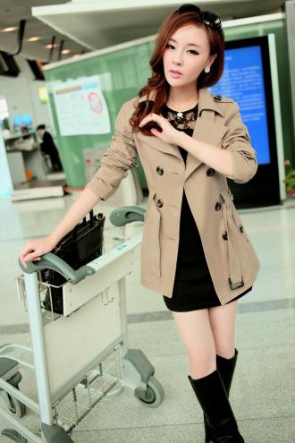 Áo khoác măng tô ngắn nữ cho nàng công sở duyên dáng