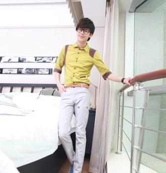 Áo sơ mi nam phong cách Hàn đầy sắc màu cho chàng nổi bật mùa hè 2017