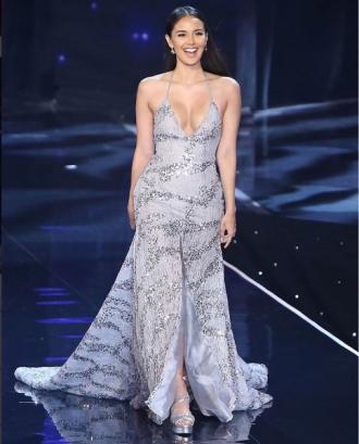 Hoa hậu Thế giới bị che mờ phần ngực trên truyền hình