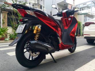 Honda SH đầy lộng lẫy với bộ cánh Red Chrome cá tính