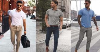 Kết hợp áo polo nam cùng quần gì thanh lịch