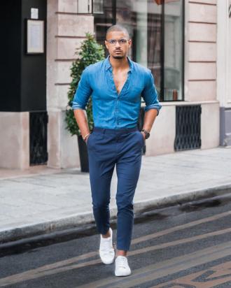 4 gợi ý phối áo sơ mi denim giúp chàng thêm cá tính