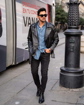 4 tips phối áo khoác biker jacket da chất cực chất mà thời trang