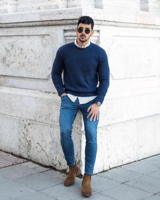 """Cảm hứng phối áo sweater và sơ mi chuẩn """"style layer"""" đầy ấm áp và thời trang"""
