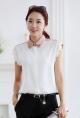 Áo sơ mi nữ vải voan trắng đẹp hè 2017