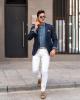 3 kiểu quần jeans phối với áo blazer đẹp tự tin